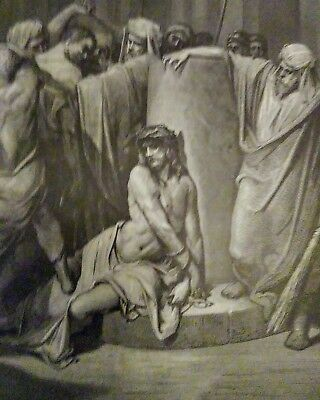 ANTIQUE 1883 GUSTAVE DORE  ETCHINGS the flagellation