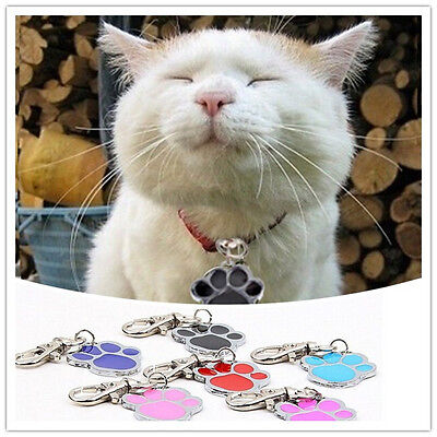 Unique Stainless Steel Paw Print Pendant Necklace Charm Tag For Pet Dog Cat CA