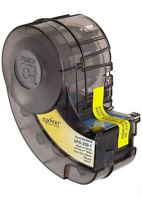 BRADY XPS-250-1 PERMASLEEVE POLYOLEFIN WIRE MARK SLEEVE CARTRIDGE IDXPERT Black