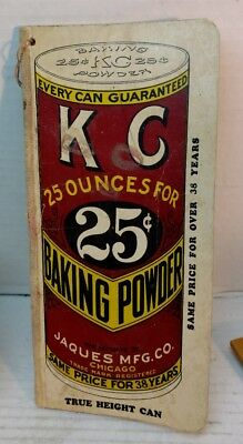 Vintage Ad KC Baking Powder Grocer's Want Book Jaques Mfg Co Chicago IL