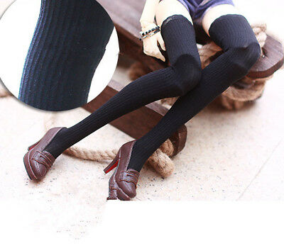 BJD doll long stockings black vertical stripes socks for 1/3 1/4 BJD DD dolls