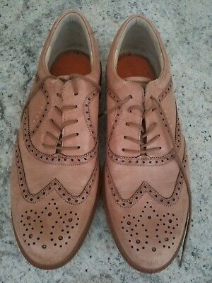 8e8dd1a656b829 Ecco Tour Hybrid Tan Brown Leather HydroMax Golf WingTip Oxfords Shoes 13 47