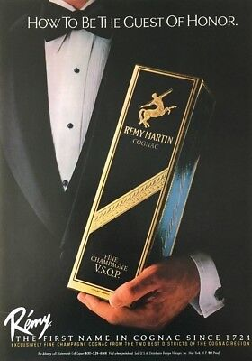 1982 REMY MARTIN  V.S.O.P Cognac How to Be The Guest of Honor Vintage PRINT AD