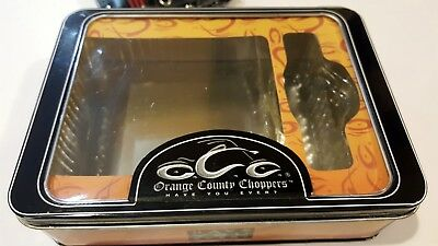 orange county choppers empty metallic box case for wallet collectible CLEARANCE