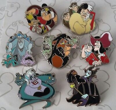 Villains and Sidekicks Mini Booster Disney Trading Pin Make a Set Lot