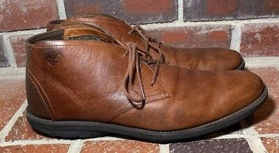 TIMBERLAND 'KEMPTON' EARTHKEEPERS Brown Leather Plain Toe Chukka Men's Size 11