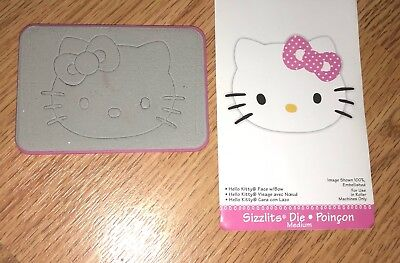 Sizzix Hello Kitty Face W/ Bow RARE Pink DIE CUT PAPER Vellum