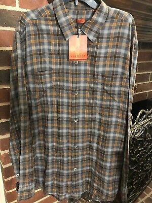 VERTICAL by Robert Comstock  Big and Tall 100/% Cotton Plaid Shirt $110.00