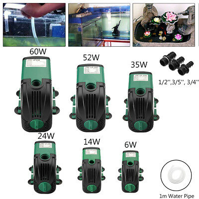 2800L Submersible Water Pump Aquarium Pond Marine Fish Tank Fountain With Filter