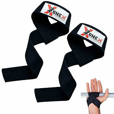 ONEX Pro Weight Lifting Gym Wrist Straps Support Grip Training Body Building