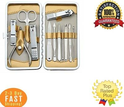 12 Pcs Stainless Steel Nail Clipper Set for Men And Women Manicure Pedicure Care
