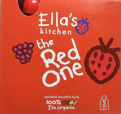 Ellas Kitchen Smoothie Fruit The Red One Multipack 5 x 90g (Pack of 6)