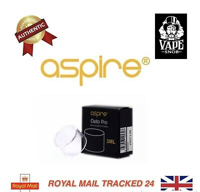 Authentic Aspire Cleito Pro 3ml Replacement Glass Tube *FREE UK SHIPPING*