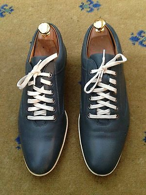 John Lobb Men's Grey Leather Shoes UK 7 US 8 EU 41 Drivers Trainers Sneakers