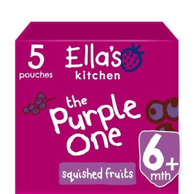 Ellas Kitchen Smoothie Fruit The Purple One Multipack 5 x 90g (Pack of 6)