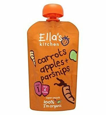 Ellas Kitchen Stage 1 Carrots Apples & Parsnips 120g (Pack of 7)