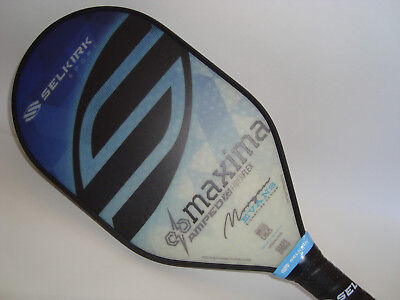 Morgan Evans Selkirk Amped X5 Maxima Pickleball Paddle Midweight Sapphire Blue