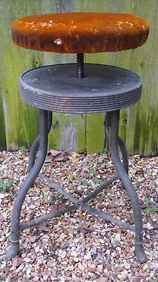 Steam Punk industrial piano stool brass velvet ajustable turntable display stand