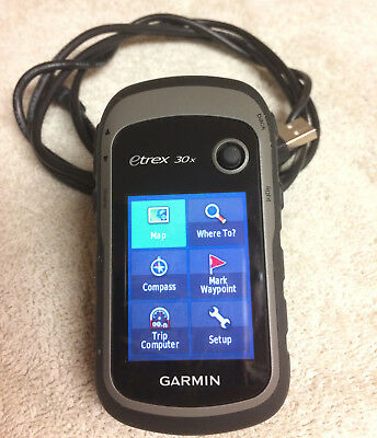 Garmin eTrex 30x Handheld GPS with Color Screen and 3 7GB of