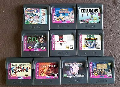 Sega Game Gear Lot of 10 Games Lion King, Sonic, Master of Darkness, and more