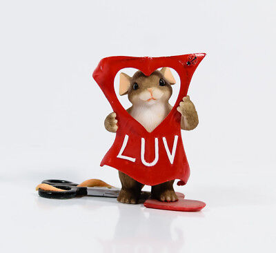 Charming Tails Cut Out For Luv'in You Valentine Heart Fitz & Floyd 84/143 *