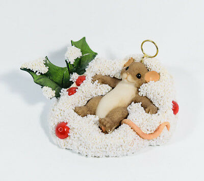 Charming Tails You're An Angel In The Making Mouse Halo Snow Christmas 87/187 *