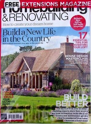 Homebuilding & Renovating Magazine October 2018 With Free Extensions Mag ~ New ~