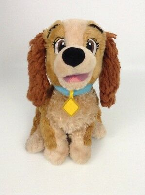 """Lady and the Tramp 13"""" Brown Lady Dog Plush Stuffed Toy Disney Store"""