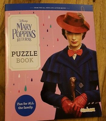 Disney Mary Poppins Returns ODEON Children's Puzzle Book - 24 Pages (2018 Movie)