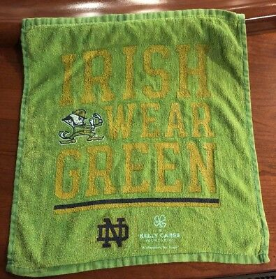 on sale 9da59 561fd 2018 NOTRE DAME vs Michigan Rally Towel Irish Wear Green Undefeated Season  12-0