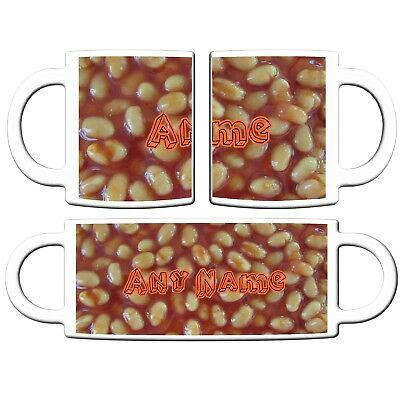 PERSONALISED BAKED BEANS PRINT 11oz CERAMIC MUG TEA COFFEE CHRISTMAS BIRTHDAY