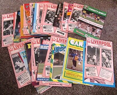 Superb Collection of 52 (Fifty-Two) Liverpool Programmes, 1980 - 81 Season