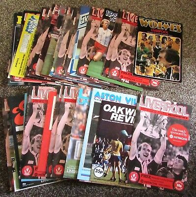 Superb Collection of 44 (Forty-Four) Liverpool Programmes, 1981 - 82 Season