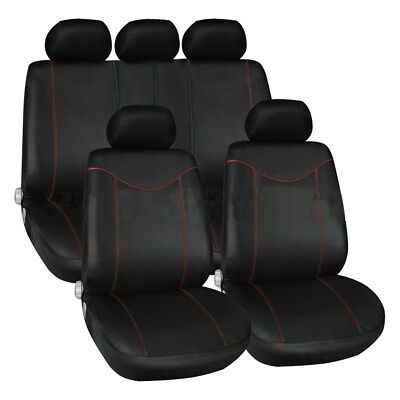 11Pcs Car Seat Covers Full Set Front & Rear Seat Back Head Rest Protector Set AU