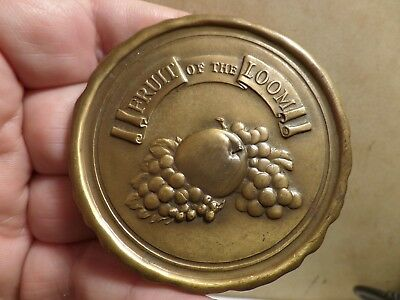 Large Novelty Fruit of the Loom Coin 3 inch