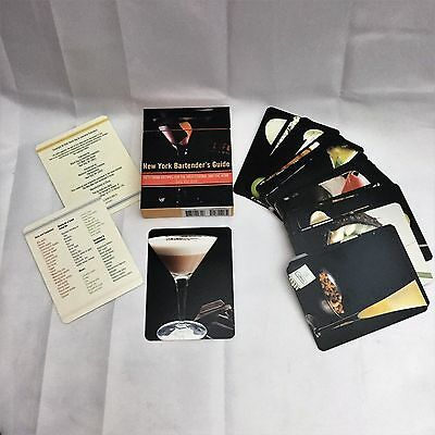 New York Bartenders Guide Fifty Drink Recipe Cards for Professionals & Home Berk