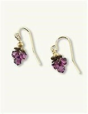 Victorian Trading Robin Goodfellow Mirabelle Amethyst Purple Glass Earrings 28A
