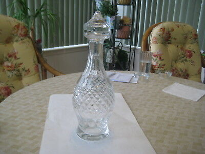 Vintage  Waterford Irish Crystal Wine Decanter in Colleen Short Stem
