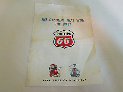 Gas Station Bag PHILLIPS 66 OIL Keep America Beautiful Advertising Chief Cop