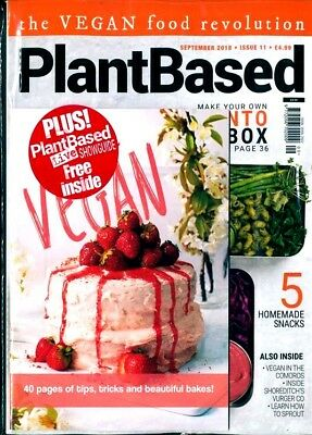 Plant Based Magazine #11 - September 2018 With Free Bake Vegan Mini Mag ~ New ~