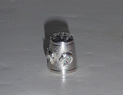 Twin Dolphin Sterling Thimble