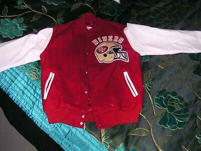 Original San Francisco 49Ers Letterman Jacket By Chalkline