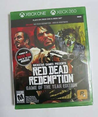 Red Dead Redemption: Game of the Year Edition (Xbox 360 & Xbox one), New Sealed