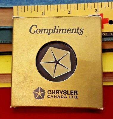 Vintage Chrysler Canada Ltd Compliments Coasters like new with box!