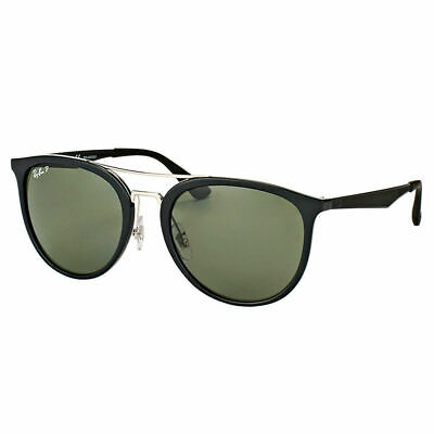 a8079f99acf Ray-Ban RB 4285 601 9A Black Plastic Square Sunglasses Green Polarized Lens
