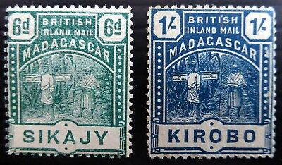 MADAGASCAR 1895 - 6d & 1/- SG59/60 Cat £28 U/M SEE BELOW NL885