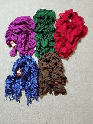 Women's Lot of 5 Scarves Different Colors NWT