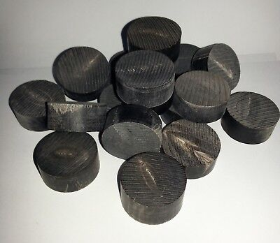 Extra Thick Buffalo Horn Spacers or Caps ½ inch Thick for Walking Stick Making
