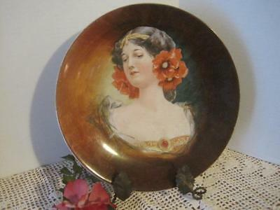 "Vintage Royal Art Italian Plate Signed Rocco 10"" Portrait Hand Painted"
