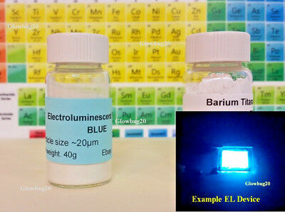 Electroluminescent Powder EL Powder + Barium Titanate BaTiO3 for EL Devices